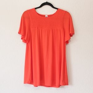 Old Navy Red Tunic Blouse
